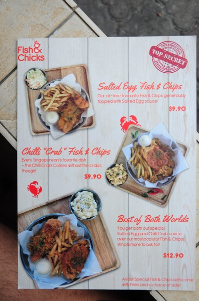 fish & chicks menu 2