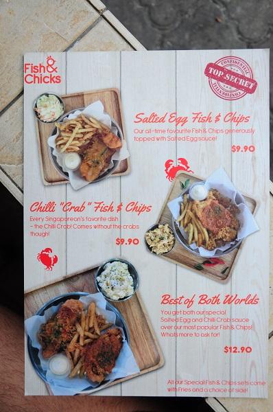 fish & chicks menu 2