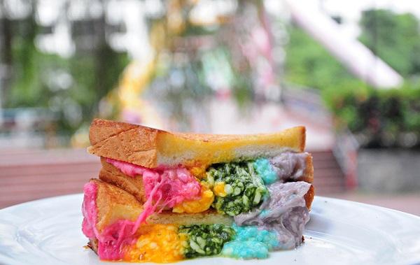rainbow cheese toast epicurius cafe 7